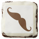 mustaches brownies