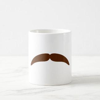 mustaches classic white coffee mug