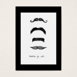 Mustaches For Sale Vertical Chubby Business Card