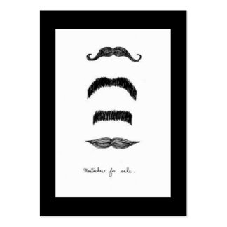 Mustaches For Sale Vertical Chubby Business Cards