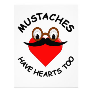 Mustaches Have Hearts Too Letterhead