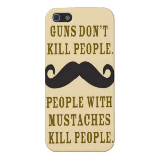 Mustaches kill people iphone 5 case