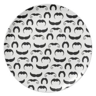 Mustaches Melamine Plate