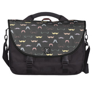mustaches pattern all style commuter bag