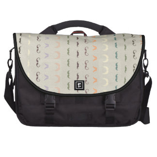 mustaches pattern all styles laptop messenger bag