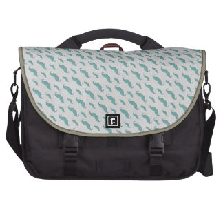 mustaches pattern bag for laptop