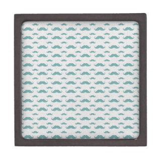 mustaches pattern gift box