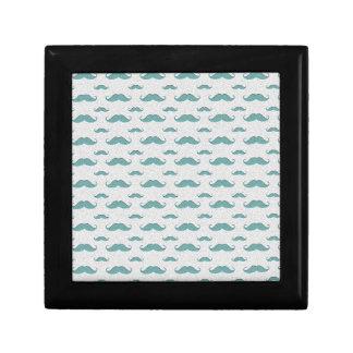 mustaches pattern jewelry box