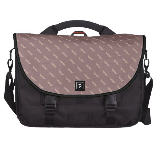 mustaches pattern laptop bags