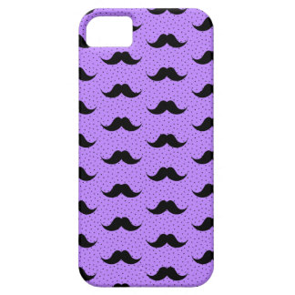 Mustaches Pattern Lilac iPhone SE/5/5s Case