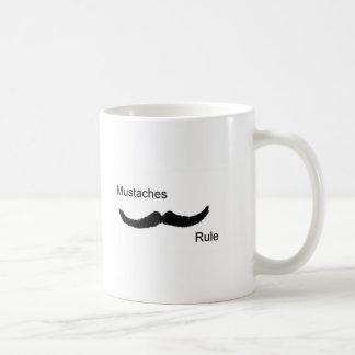 Mustaches Rule Classic White Coffee Mug