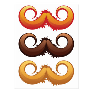 Mustaches Set 2 Postcard