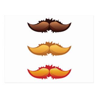 Mustaches Set Postcard