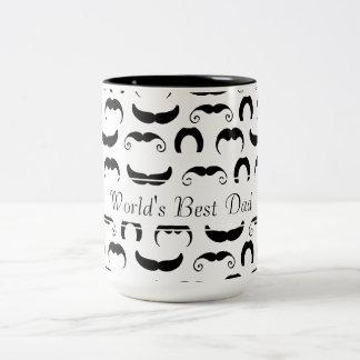 Mustaches Two-Tone Coffee Mug