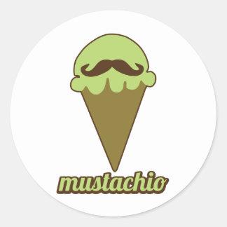 Mustachio Pegatinas Redondas