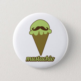 Mustachio Pinback Button