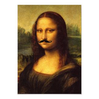 Mustachioed Mona Lisa Card