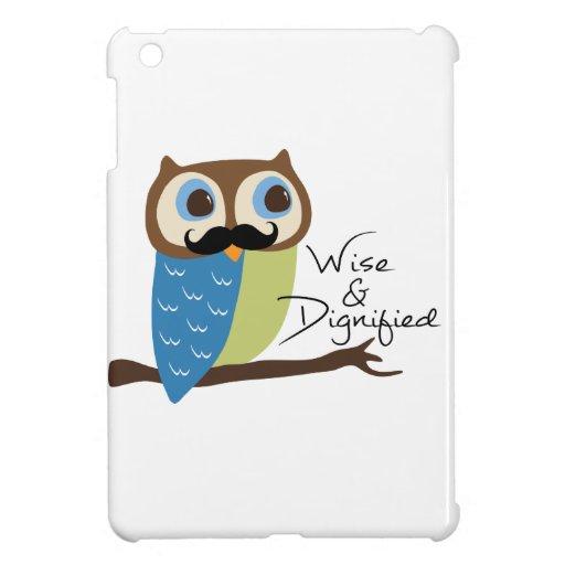 Mustachioed Owl iPad Mini Cases