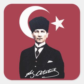 Mustafa Kemal Atatürk Square Sticker