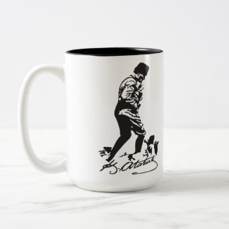 Mustafa Kemal Ataturk Two-Tone Coffee Mug