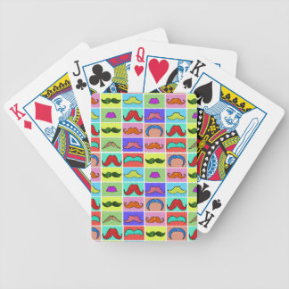 Mustahce pattern funny colorful bicycle playing cards