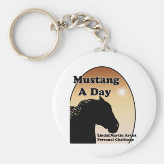 Mustang A Day Personal Painting Challenge Keychain