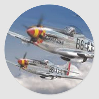 Mustang Aircraft Classic Round Sticker