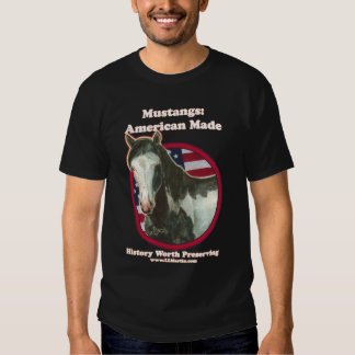 Mustang: American Made  White Letters Tshirts