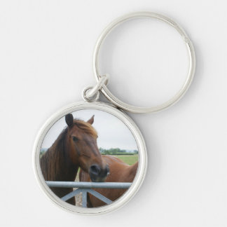 Mustang at Fence Keychain