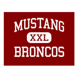 Mustang - Broncos - High School - Mustang Oklahoma Postcard
