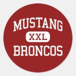 Mustang - Broncos - High School - Mustang Oklahoma Classic Round Sticker