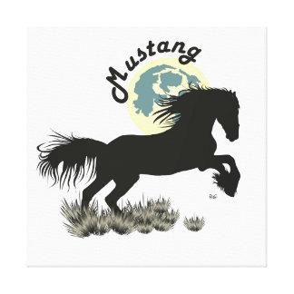 Mustang canvas gallery wrap canvas