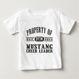 Mustang Cheer Leader Baby T-Shirt