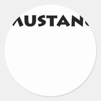 Mustang Classic Round Sticker