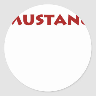 Mustang Classic Round Sticker