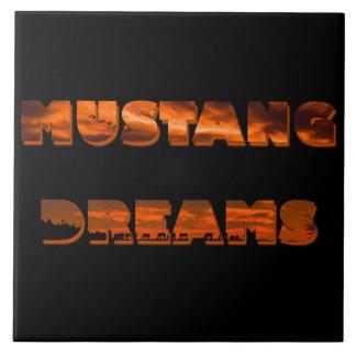 Mustang Dreams 6x6 Ceramic Tile