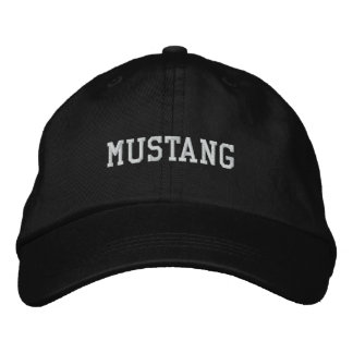 MUSTANG EMBROIDERED BASEBALL HAT