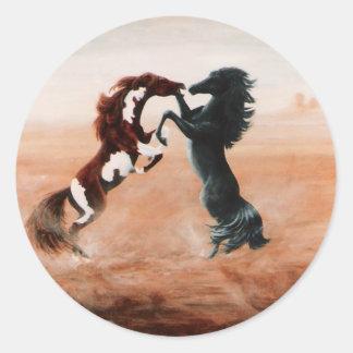 Mustang Fantasy Round Sticker
