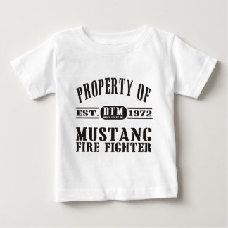 Mustang Fire Fighter Baby T-Shirt