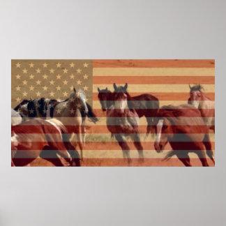 Mustang Flag Poster