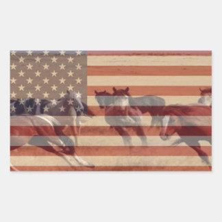 Mustang Flag Rectangular Sticker