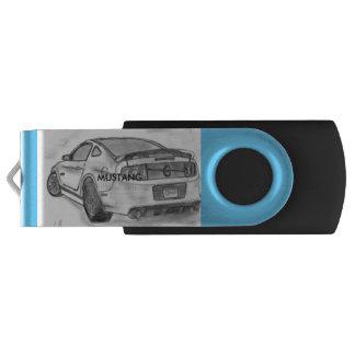 Mustang Flash Drive Swivel USB 3.0 Flash Drive