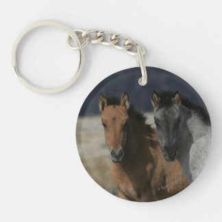 Mustang Foal Headshot Keychain