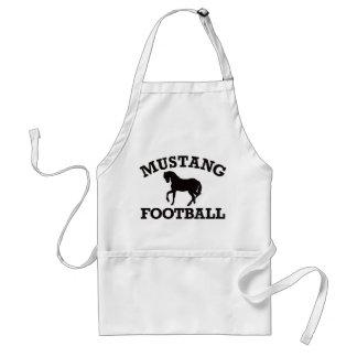 Mustang Football Adult Apron