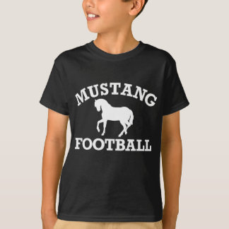 Mustang Football - White T-Shirt