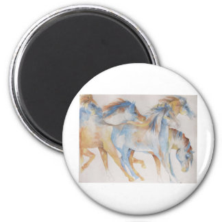 Mustang Fury 2 Inch Round Magnet