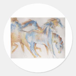 Mustang Fury Classic Round Sticker