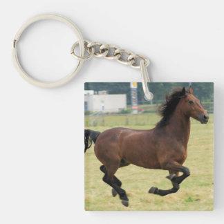 Mustang Galloping Acrylic Keychain