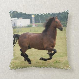 Mustang Galloping Pillow
