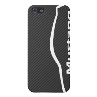 Mustang GT Coupe White Silhouette Logo Cover For iPhone SE/5/5s